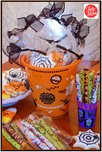 Bucket of Halloween Cookies