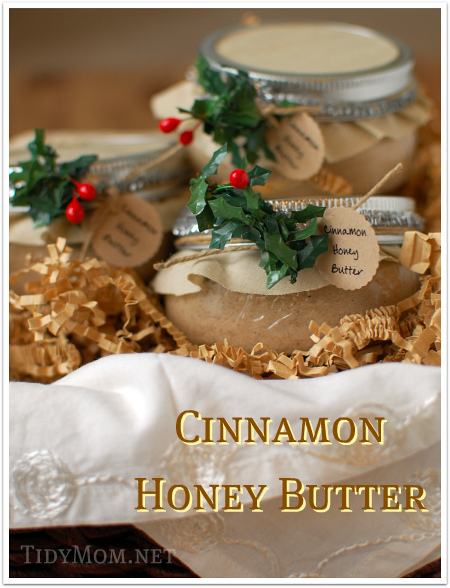 Cinnamon Honey Butter {jar gift}