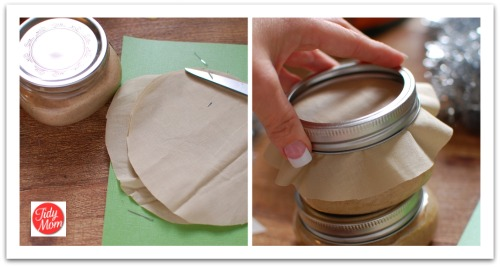 Fabric on lids