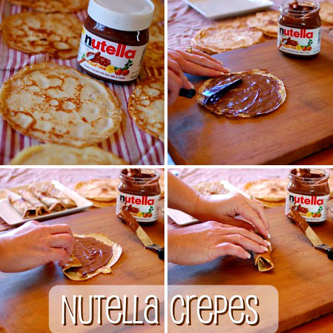 How to make Nutella Crepes.  Click photo to get all the instructions at TidyMom.net