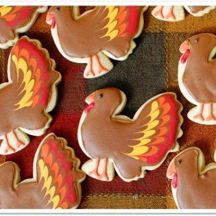 Turkey Cookies at TidyMom.net