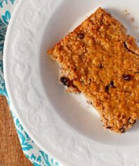 Baked Peanut Butter Oatmeal recipe at TidyMom.net