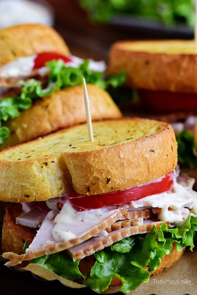 Turkey Caesar Sandwich closeup