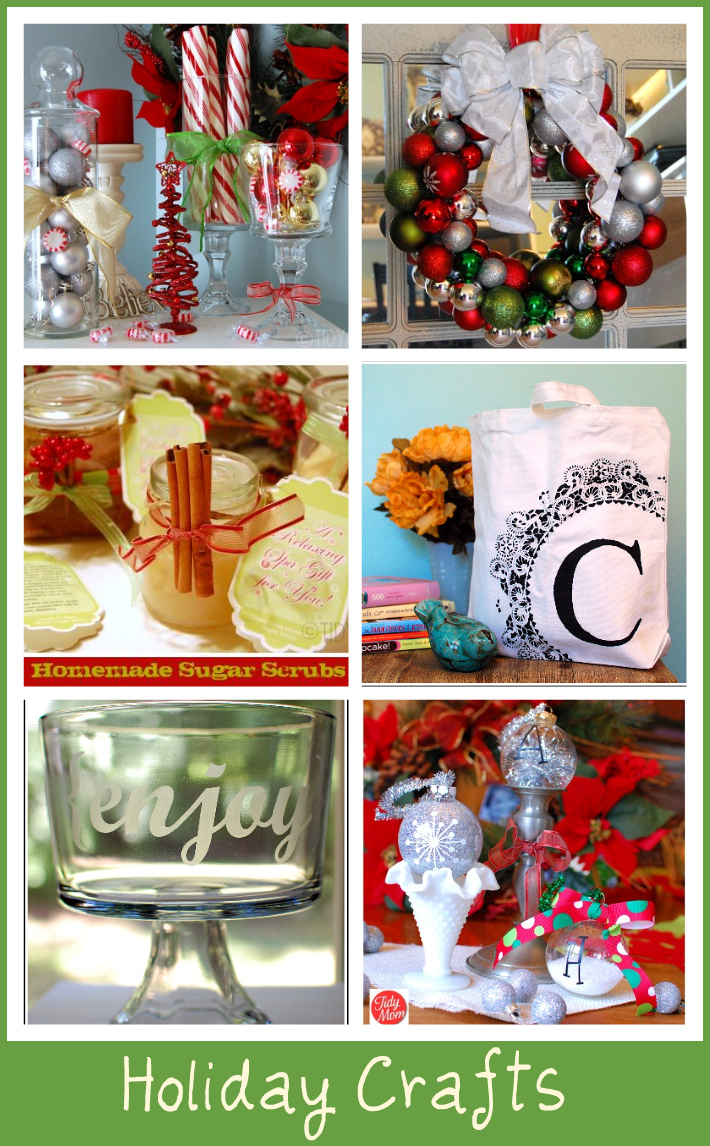 6 Handmade Holiday Crafts at TidyMom.net