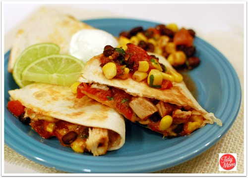 Fire Roasted Tomato & Chicken Quesadillas