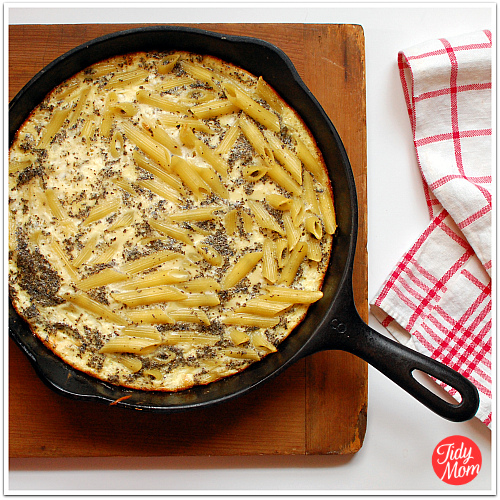 Basil and Penne Frittata