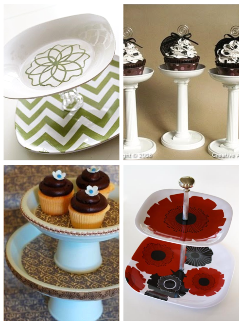 Cup Cake Decorating Plates