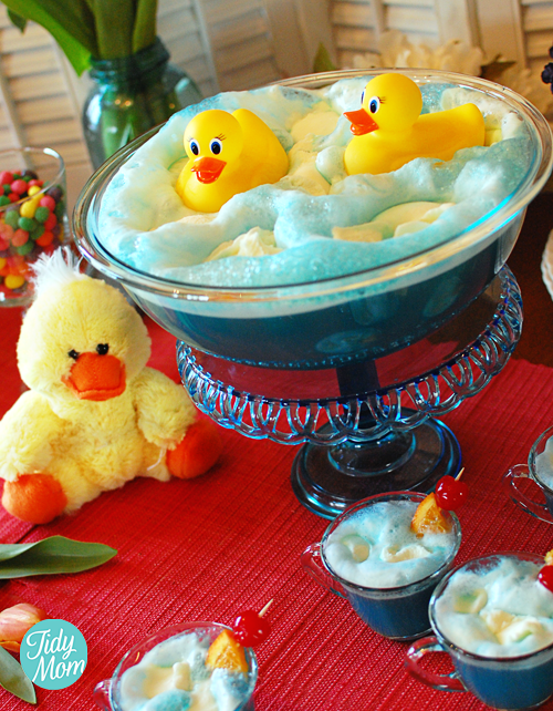 Blue Baby Shower Punch With Rubber Ducks Tidymom