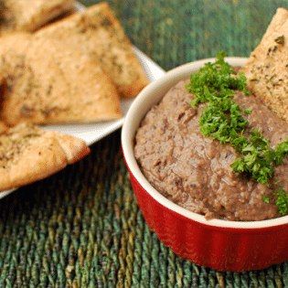 black bean & carmelized onion dip