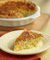 Brocoli Slaw Broccoli and Garlic Quiche