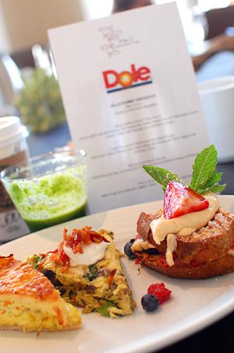 Dole Salad Summit breakfast