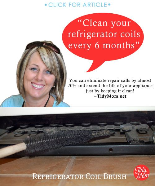 Eliminate refrigerator replairs and extend the life, by cleaning the coils every 6 months | TidyMom.net