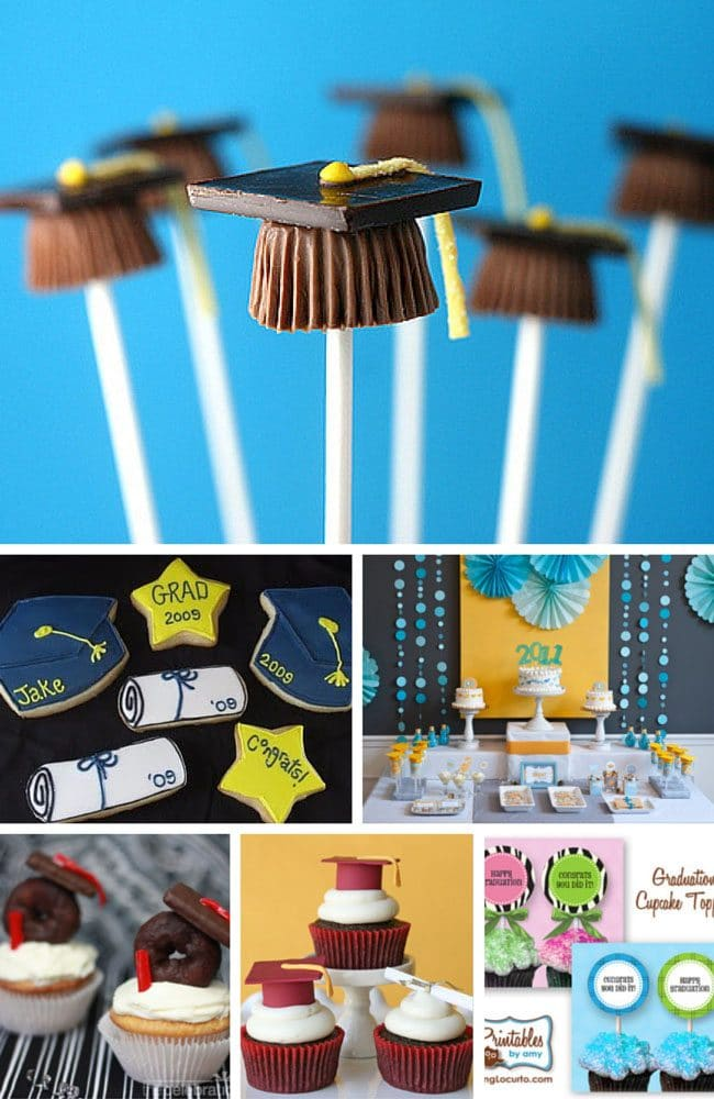Host the perfect party for your graduate, with cupcakes, printables, cookies and more graduation party food ideas at TidyMom.net