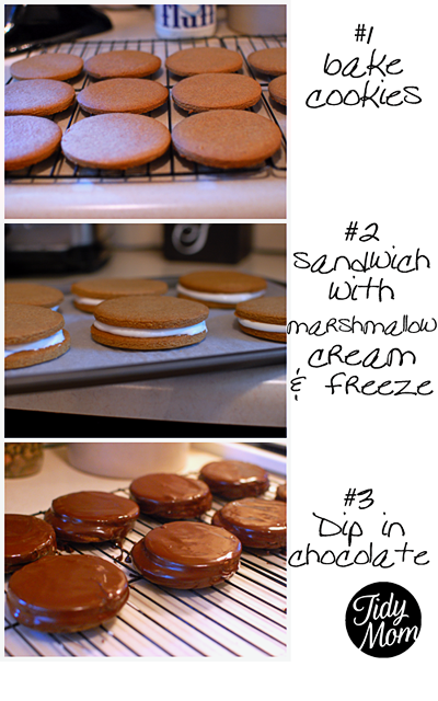 Homemade moon pie recipe