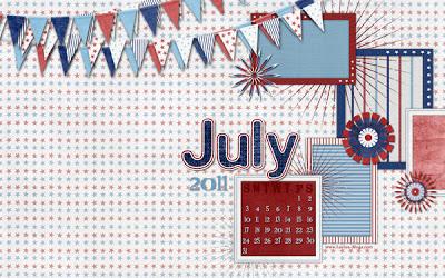 July 2011 Desktop theme image