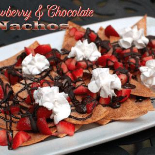 Strawberry and Chocolate Dessert Nachos