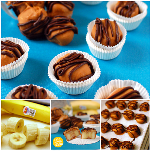 Frozen Peanut Butter Banana Bites at TidyMom.net