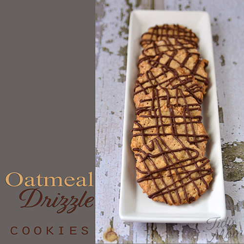 Oatmeal drizzle cookies.  recipe at TidyMom.net