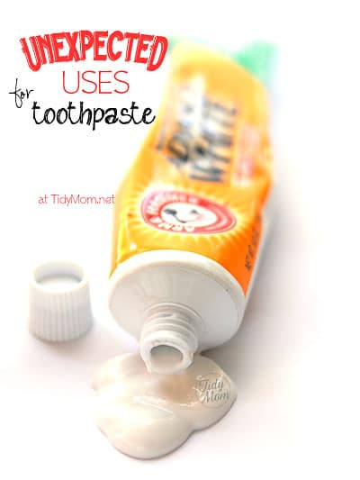 Unexpected Uses for Toothpaste at TidyMom