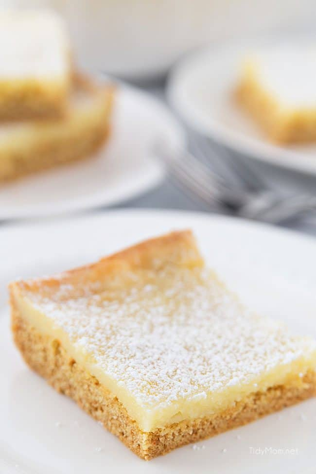 A piece of St. Louis Gooey Butter Cake