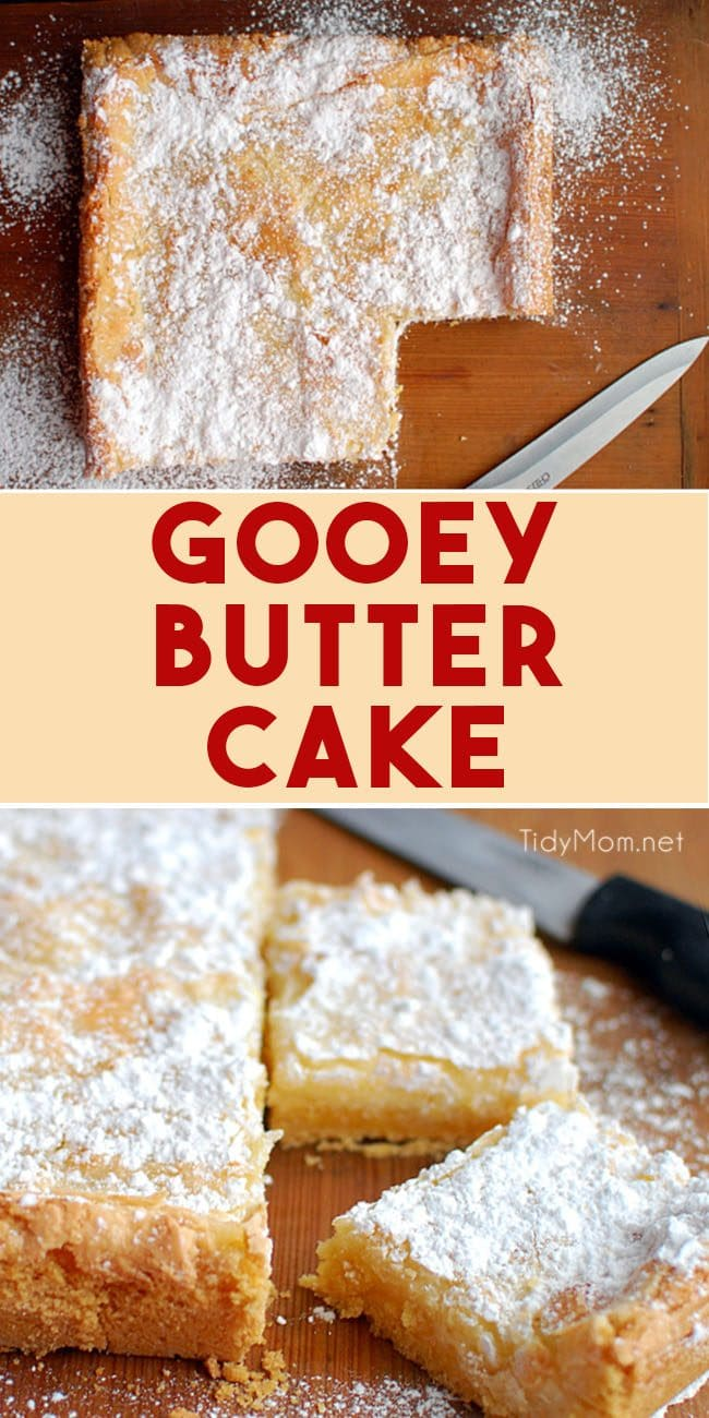 Gooey Butter Cake photo collage