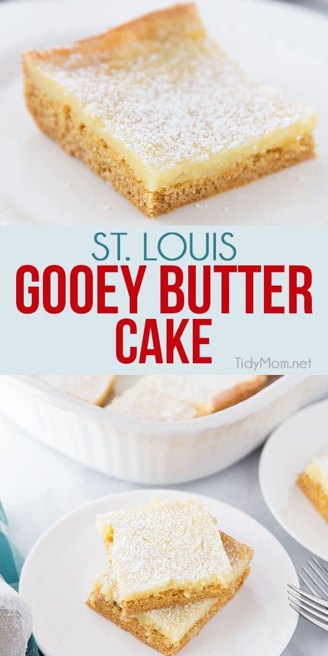 St Lous Gooey Butter Cake served