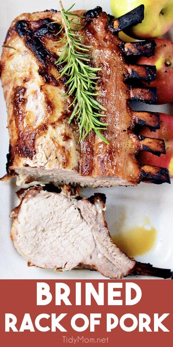 juicy brined rack of pork
