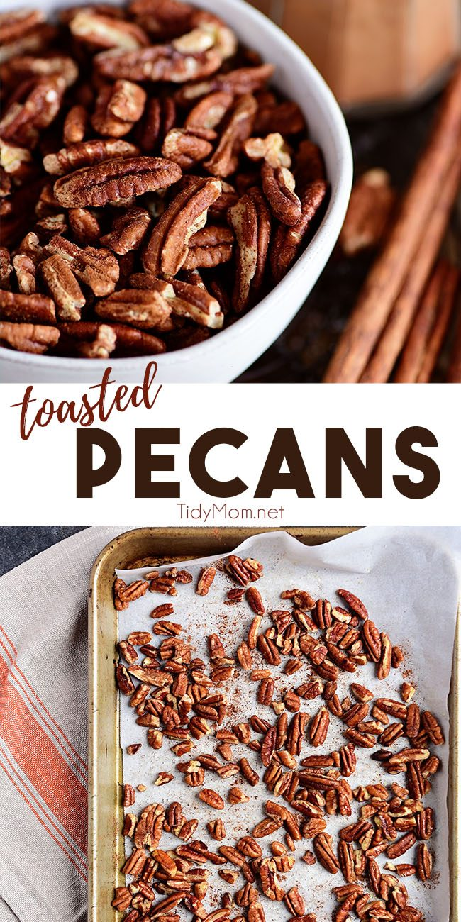 toasted pecans photo collage