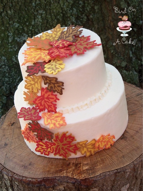 Thanksgiving ideas for Autumn cake decoration