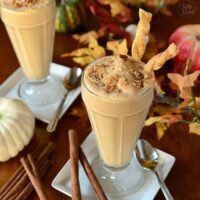 Pumpkin Pie MilkShake with Pie Crust Straws