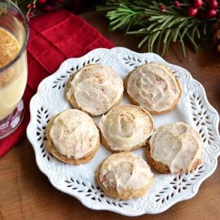 Eggnog Cookies Iced with Eggnog Buttercream