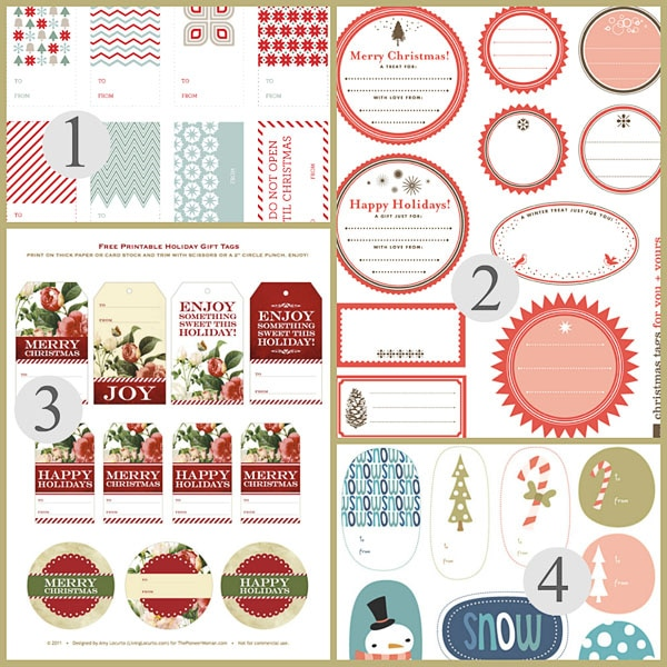 photo regarding Printable Holiday Gift Tags identified as No cost Printable Xmas Present Tags: Xmas Printables