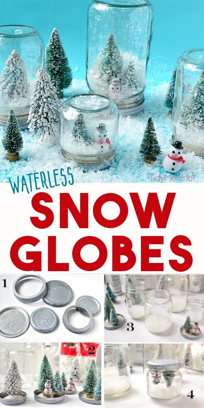 diy snow globes photo collage