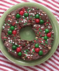 Christmas Holiday Five Minute Fudge Wreath at TidyMom.net