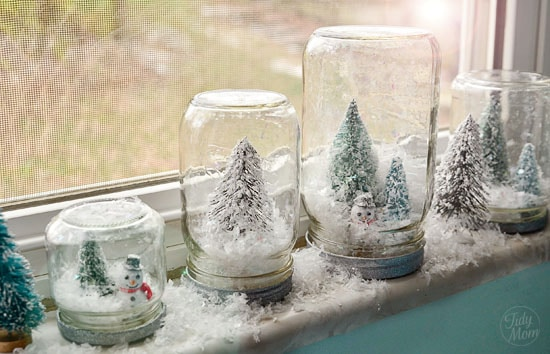 how to make a waterless snow globes