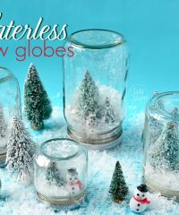 waterless snow globes display