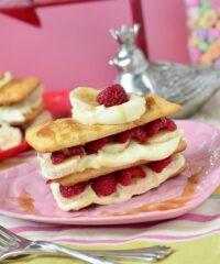 Caramel Raspberry Banana Napoleon