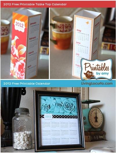 Living Locurto Free printable 2012 calendars