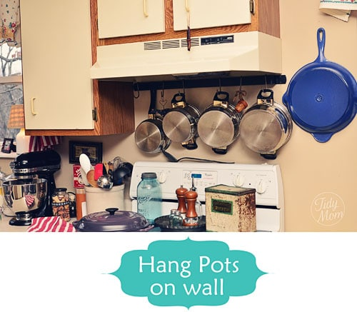 Pot rack | Smart Organizing Tips for the Kitchen