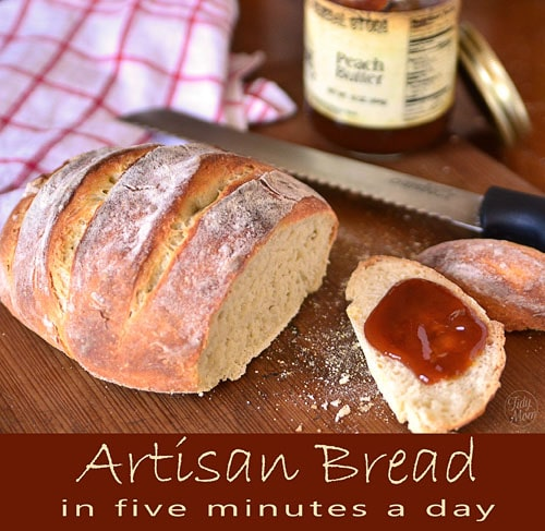 Follow the Artisan Bread in Five basic recipe and you can have homemade artisan bread with every day! It's so easy, this bread almost makes itself!
