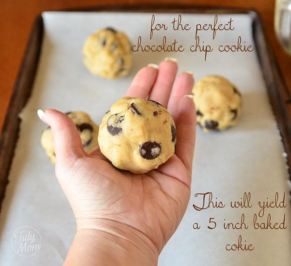 The secret to the best chocolate chip cookie at TidyMom.net