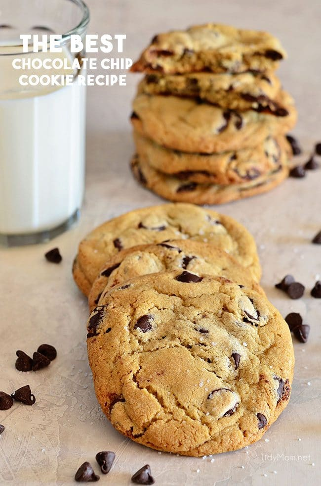stack of the best chocolate chip cookies