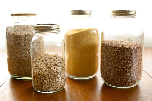 dry goods in jars