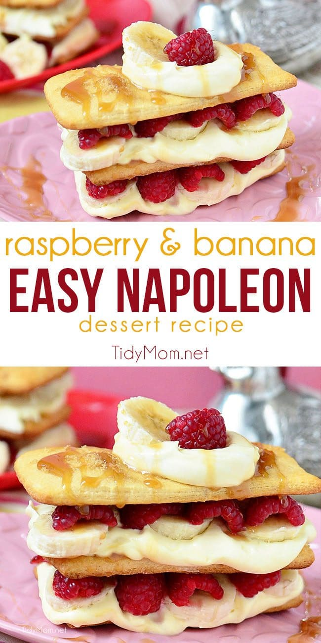 Napoleon dessert recipe photo collage