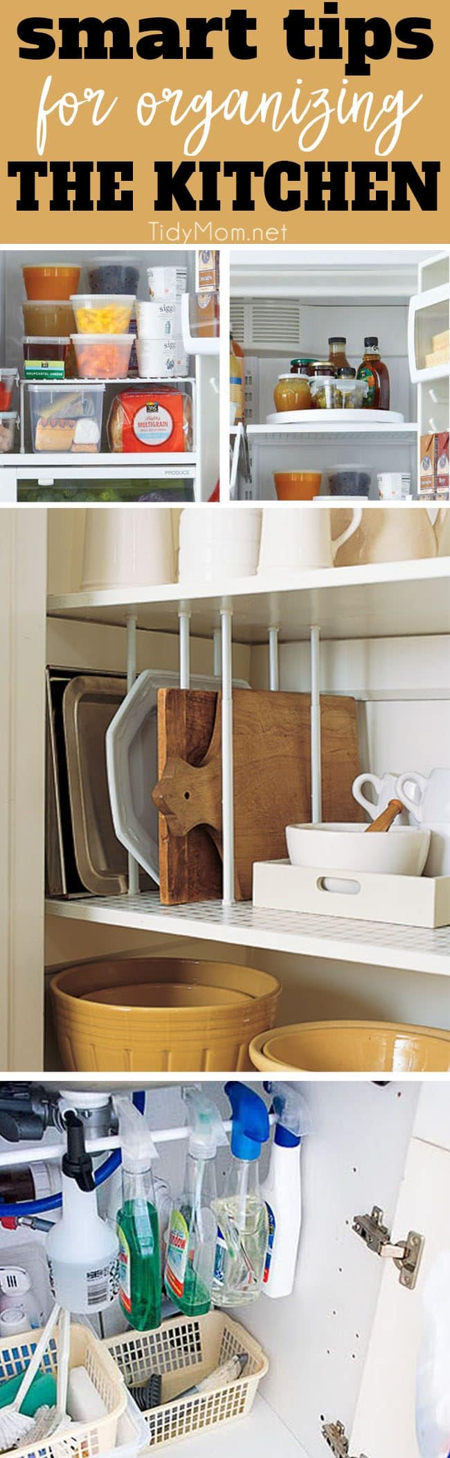 Pinterest Image What Makes A Great Kitchen Is How You Organize It. Learn 8  Smart Organizing Tips