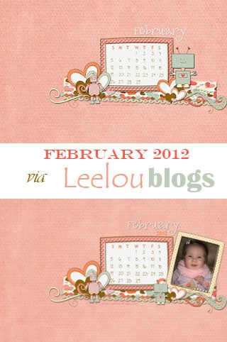 Free February 2012 desktop calendar Leelou blogs