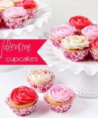 valentine rose cupcakes