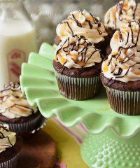 Bailey's Chocolate and Caramel Cupcakes