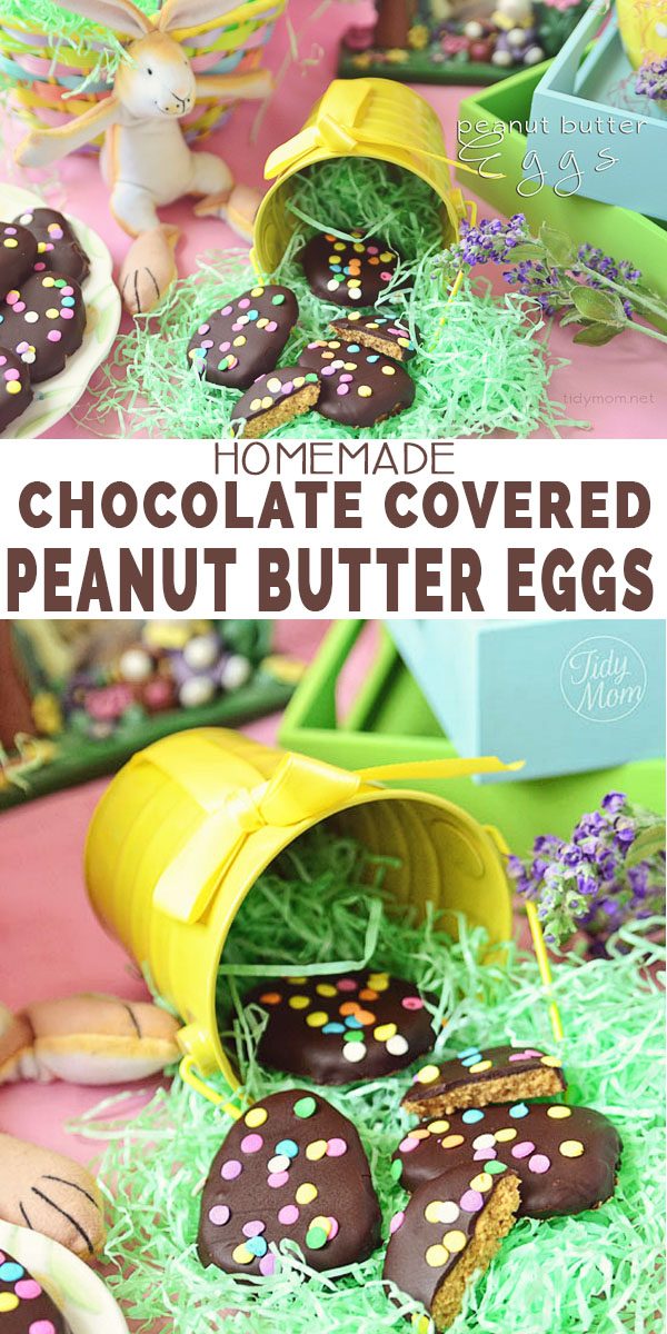 Homemade Chocolate Covered Peanut Butter Eggs (no-bake) recipe at TidyMom.net