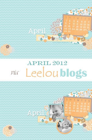 Leelou blogs April 2012 free desktop background
